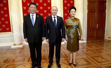 習近平 彭麗媛夫妻 ウラジーミル プーチン
