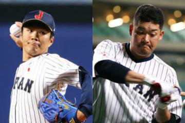 先発投手の則本昂大(左)と4番スタメンの筒香嘉智【写真:Getty Images】