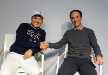 長谷川滋利さん(右)と、パーソナリティの丸山茂樹