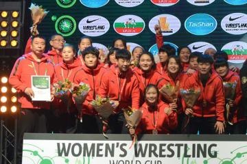 昨年の大会で2位の中国。団体世界一返り咲きを狙う