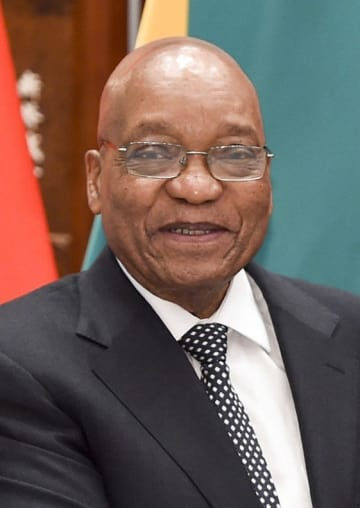 南アフリカのズマ前大統領(UPI=共同)