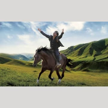 キルギス映画「馬を放つ」の1場面
