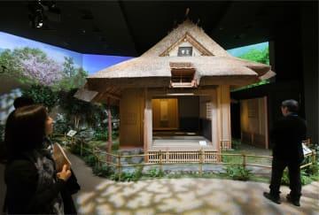「中之島香雪美術館」内に再現された茶室「玄庵」=20日午後、大阪市