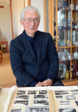 1959年春の甲子園にエースとして出場し、延長14回を投げ抜いた磯田さん(大津市)