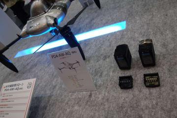 プロドローンの機体もマクセルのインテリジェント電池を搭載