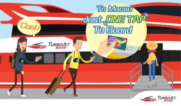 ターボジェットの新サービス「ワン・タップ・トゥ・ボード・ウィズ・オクトパス」のイメージ(画像:Shun Tak-China Travel Ship Management Limited)