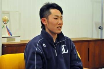 インタビューに応じた西武・伊藤翔【写真:篠崎有理枝】
