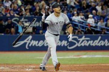 開幕戦で2本塁打を放ったヤンキースのジャンカルロ・スタントン【写真:Getty Images】