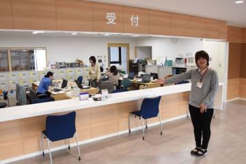 複合施設で一部業務を開始した、都城市保健センター