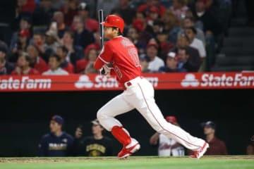 メジャー初本塁打を含む3安打を記録したエンゼルス・大谷翔平【写真:西山和明】