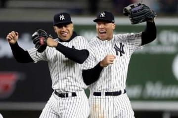 ヤンキース・スタントン(左)とジャッジ【写真:Getty Images】