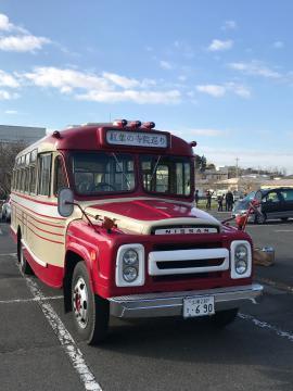 昨年秋のツアーで使ったボンネットバス