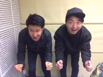栗村修さん(左)と、パーソナリティの野島裕史