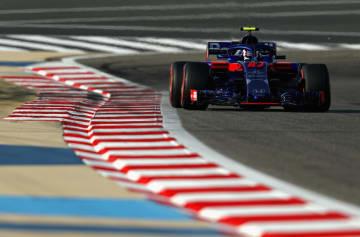 F1バーレーン・グランプリの予選で6番手となったトロロッソ・ホンダのピエール・ガスリー=7日、バーレーン(ゲッティ=共同)