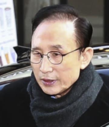 韓国元大統領の李明博被告(聯合=共同)