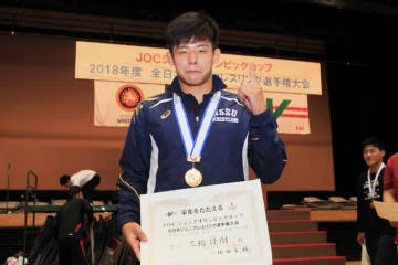 JOC杯を制した2016年高校三冠王者、三輪優翔(日体大)