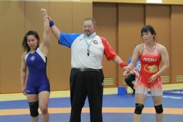 森川美和(日体大)に勝ち、アジア大会代表の権利を手にした源平彩南(至学館大)