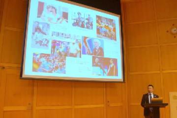 北欧5か国のLGBT法整備について説明するデンマーク大使館の寺田和宏・上席政治経済担当官