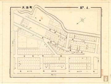 大泊の火災保険特殊地図(日比谷図書文化館所蔵)