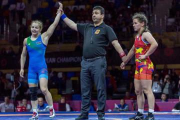 8度目の欧州チャンピオンに輝いたマリア・スタドニク(アゼルバイジャン)=提供・UWW