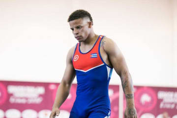67kg級選手として実力を発揮しつつあるイスマエル・ボレロ・モリーナ(キューバ)=提供・UWW