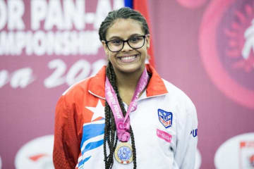 プエルトリコ女子選手として16年ぶりにパンアメリカン・チャンピオンに輝いたアンドリベス・リベラ・ベリアード=提供・UWW