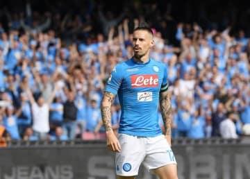 キャプテンとしてチームを牽引するナポリの象徴、ハムシク photo/Getty Images