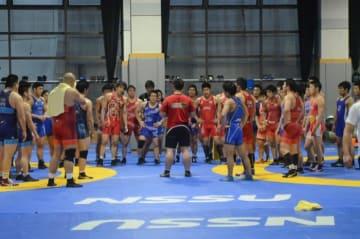 全日本選抜選手権前の最後の全日本合宿に臨んだ男子グレコローマン・チーム