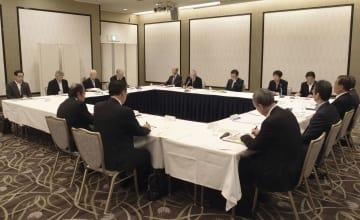 7商工会議所が集まった「北陸・関西連携会議」の第6回会合=9日、大阪市