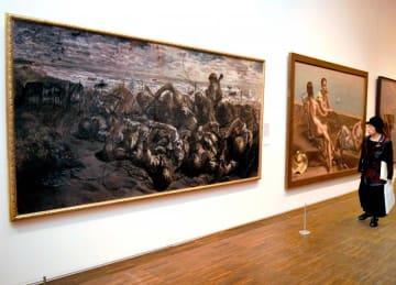 大型の代表作品も並ぶ中村研一展