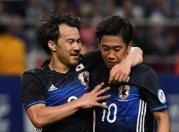 揃って日本代表復帰を果たした岡崎(左)と香川(右)photo/Getty Images