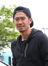 日本代表候補入りしたドルトムントの香川真司=18日午後、神戸市内(撮影・辰巳直之)