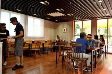 海老名市障害者支援センターあきば内にオープンした「カフェ はみんぐ」 =同市上今泉