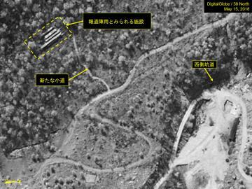 15日に撮影された北朝鮮・豊渓里の核実験場の衛星写真(デジタルグローブ/38ノース提供・ゲッティ=共同)