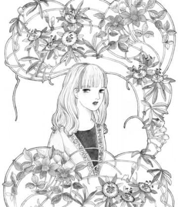 「ビッグコミック」12号に掲載される山岸凉子さんの新作読み切り「時計草」のイラスト=小学館提供