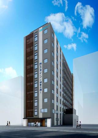 三重交通グループがJR京都駅八条口前に建設するホテルの完成予想図