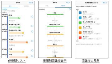 「NAVITIME」アプリ提供イメージ(首都圏新都市鉄道提供)