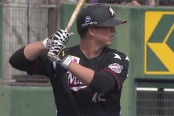 2試合連続となる本塁打を放ったロッテのマット・ドミンゲス【画像:(C)PLM】