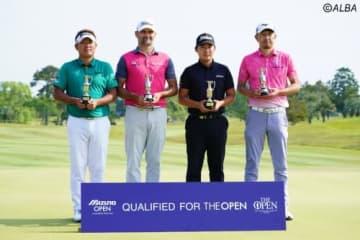 ミズノオープン優勝の秋吉翔太(左端)ら上位陣がそれぞれランクアップ(撮影:鈴木祥)