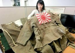 神戸市役所に保管されている戦争関連資料の一部=神戸市中央区加納町6