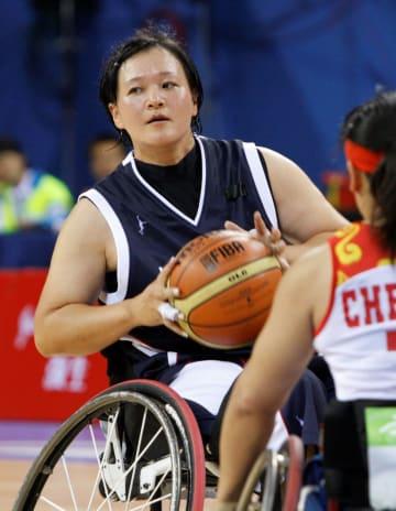 2008年の北京パラリンピックでプレーする増子恵美さん(本人提供)