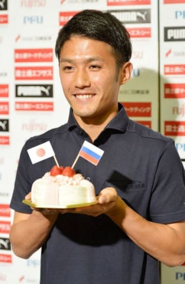 W杯の日本代表に選出された川崎フロンターレの大島選手=川崎市中原区