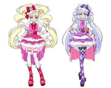アニメ「HUGっと!プリキュア」に登場するキュアマシェリ(左)とキュアアムール(C)ABC-A・東映アニメーション