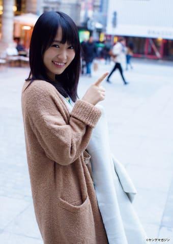 「週刊ヤングマガジン」第27号に登場した「欅坂46」の菅井友香さん(C)LUCKMAN/ヤングマガジン
