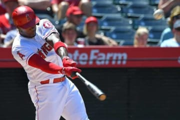 ソロ本塁打を放ったエンゼルスのジャスティン・アップトン【写真:Getty Images】
