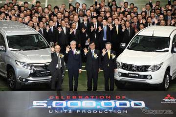 三菱自動車タイランドが累計生産500万台を達成。電動車の製造へ向け「第一歩」を表明