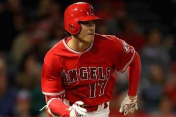代打出場し、二塁への内野安打を放ったエンゼルス・大谷翔平【写真:Getty Images】