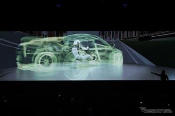 VRで人間をミニチュア自動車の車内にテレポートするエヌビディアのデモ