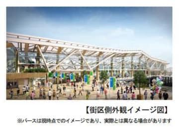 新駅のイメージ。(画像:東日本旅客鉄道発表資料より)