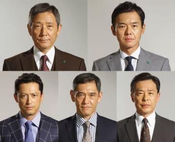 7月スタートの連続ドラマ「ハゲタカ」の出演者たち=テレビ朝日提供